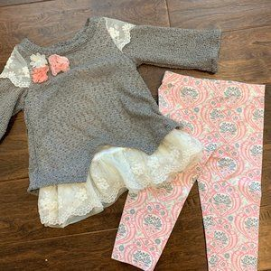 Baby Girls Rare Editions 2 pc pant set 24 months